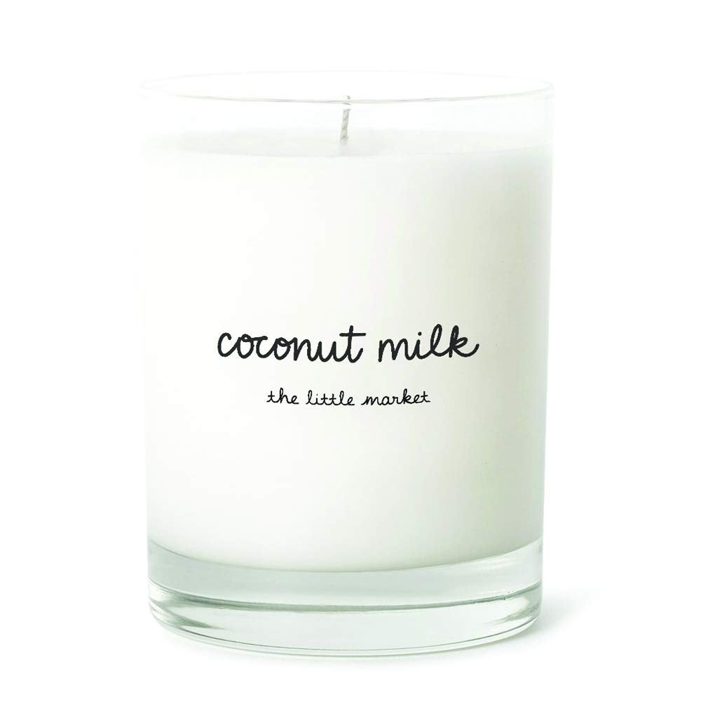 The Little Market Coconut-Soy Wax Blend Scented Candle in Coconut Milk.jpg