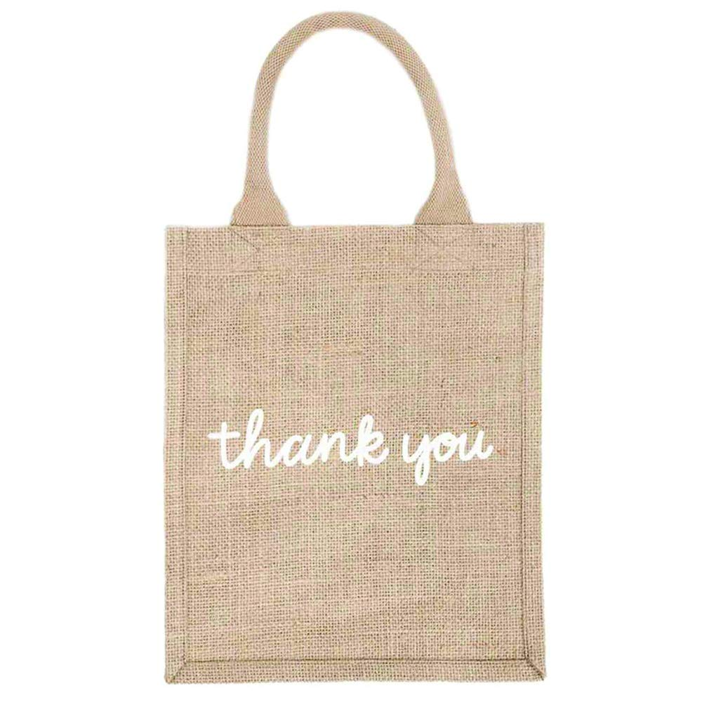 The Little Market Reusable Burlap Gift Tote Bag - Thank You.jpg