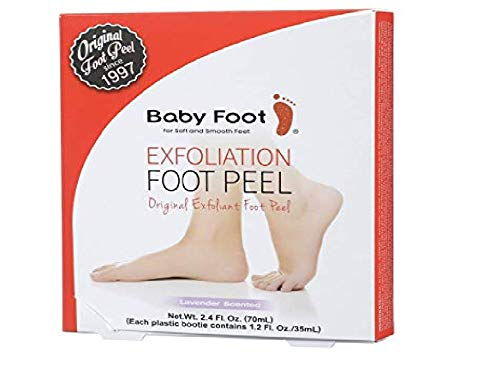 Baby Foot - Original Foot Peel Exfoliator - Fresh Lavender Scent Pair - Foot Mask