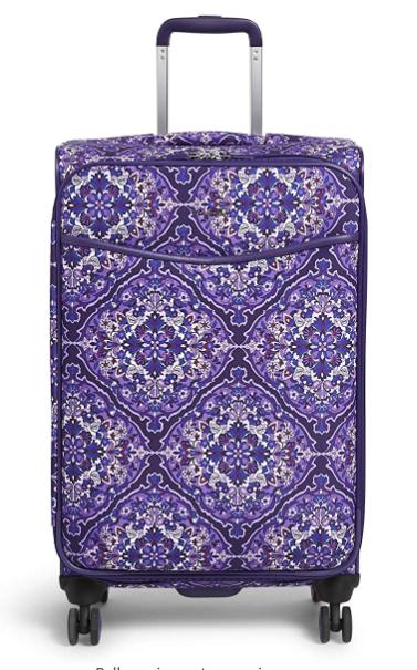 """Vera Bradley 27"""" Softside Rolling Suitcase Luggage"""