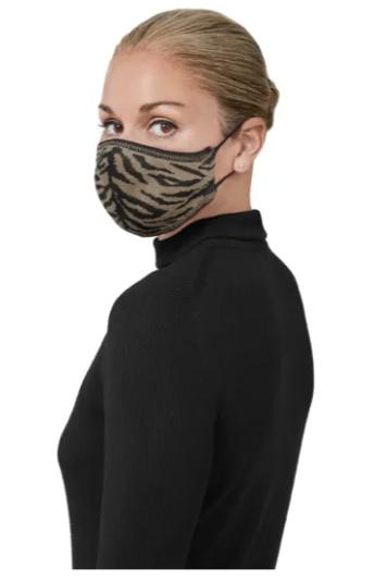 Pique Tiger Print Mask