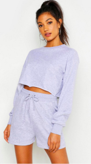 Mix & Match Soft Cropped Loop Back Sweat