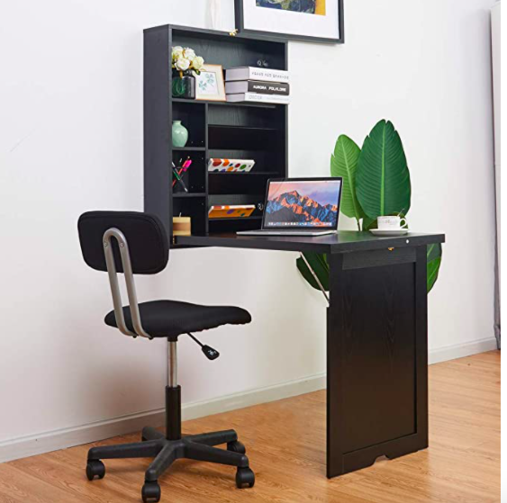 TANGKULA Wall Mounted Table Fold Out Multi-Function Computer Desk