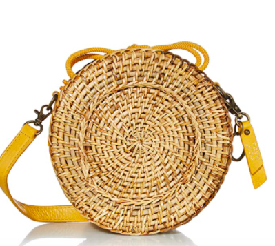 Frye and Co. Esme Straw Canteen Crossbody Bag