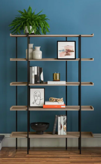 Joss & Main Blonde Etagere Bookcase