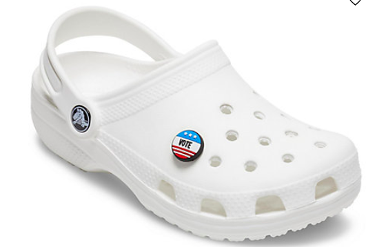 Vote charm for Crocs