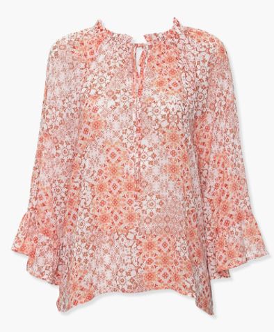 Forever 21 Ornate Self-Tie Top