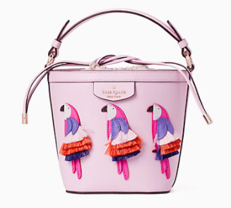Kate Spade Pippa Flock Party Small Bucket Bag
