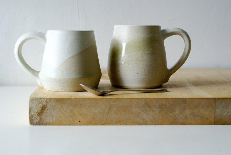 Little Wren Pottery Tan France x Etsy Mug Set