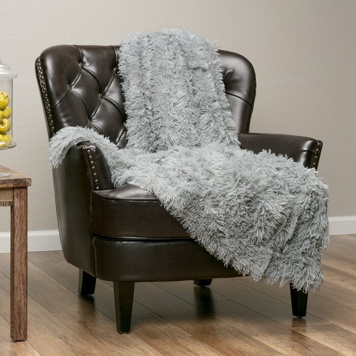 Mistana Dedrick Shaggy Super Elegent Sherpa Long Fur Throw