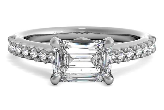 Ritani East To West French-set Diamond Band Engagement Ring