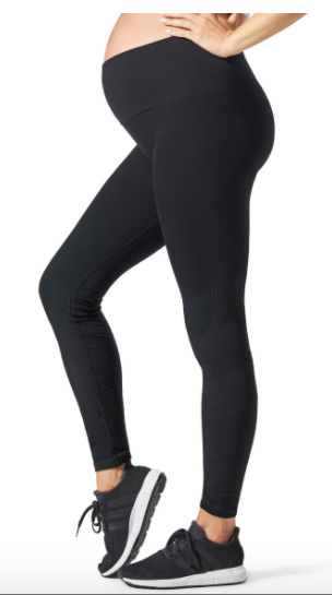 BLANQI SportSupport Hipster Cuff Contour Support Maternity/Postpartum Leggings