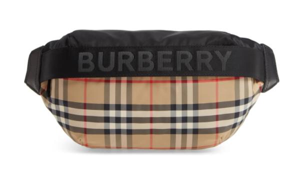 Burberry Medium Sonny Check Belt Bag