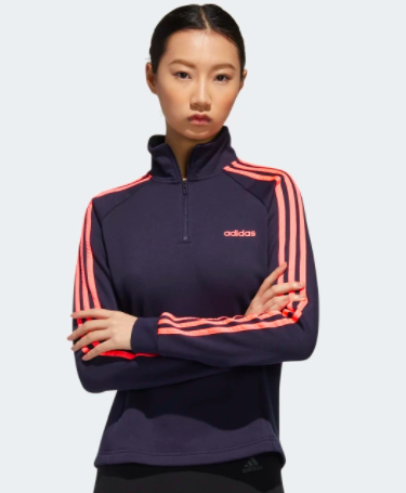 Adidas Essentials 3-Stripes Fleece 1/4 Zip Jacket