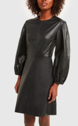 Tibi Structured Faux-Leather Minidress