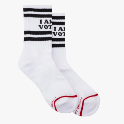MOTHER X I AM A VOTER Socks