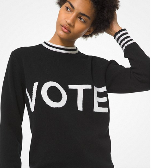 Michael Kors Vote Cashmere Intarsia Sweater