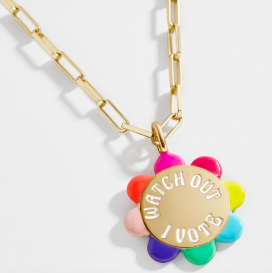 BaubleBar I Vote Necklace