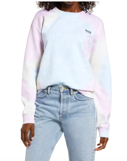 Treasure & Bond Tie Dye Vote Sweatshirt