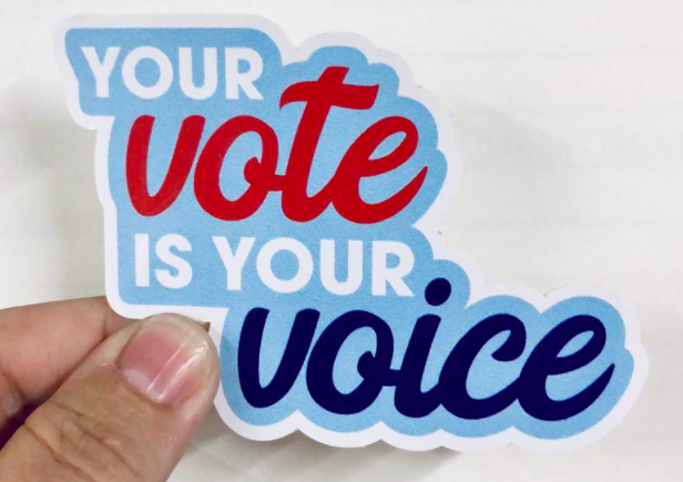 Etsy Your vote is your voice vinyl sticker