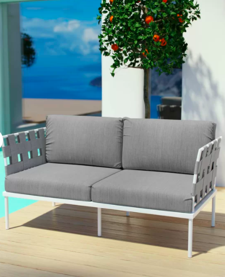 Reyna Outdoor Patio Loveseat with Cushions