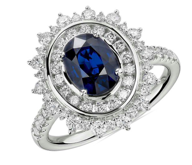 Blue Nile Oval Sapphire Ring