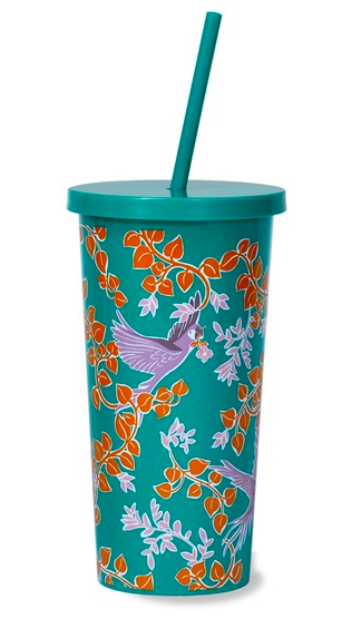 Kate Spade Tumbler With Straw, Bird Party