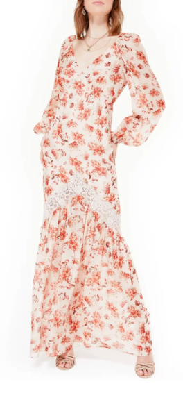 CAMI NYC The Francie Floral Long Sleeve Maxi Dress