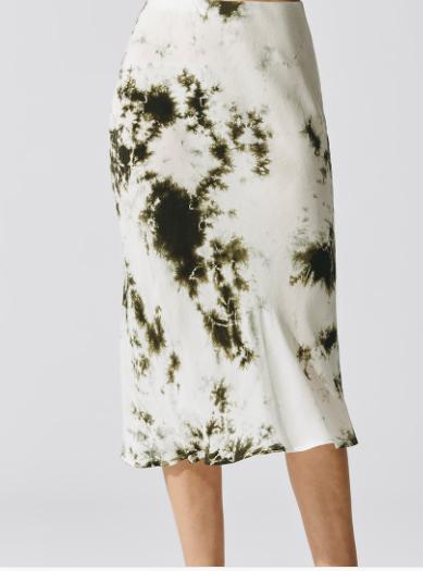 Statewide Cupro Bias Skirt Tie Dye