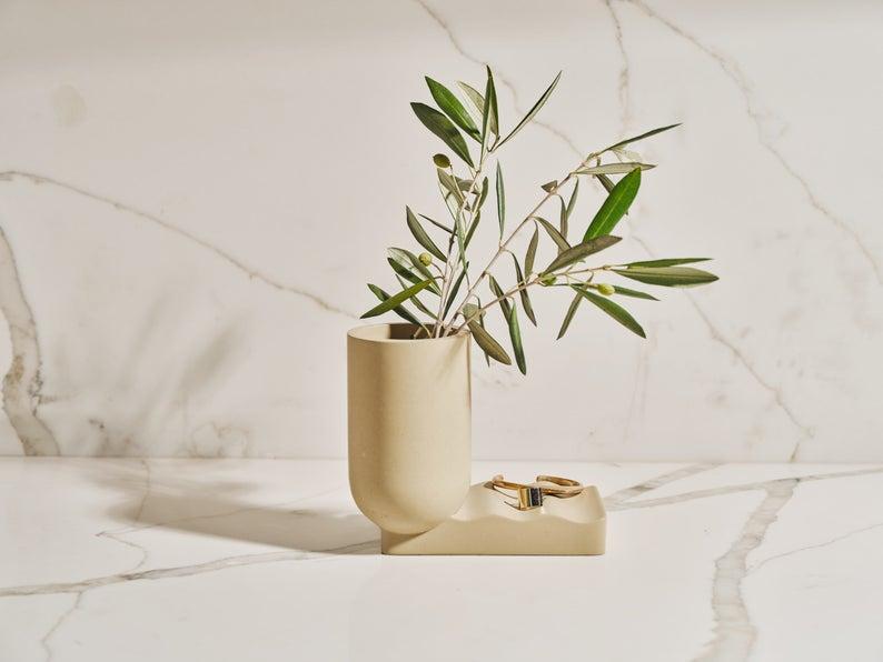 SURPOINT Tan France x Etsy Wave Concrete Vase
