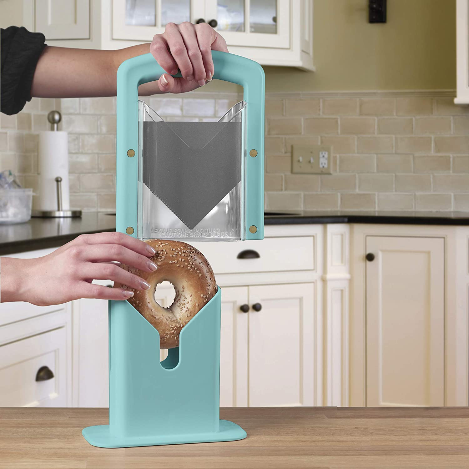 The Original Bagel Guillotine Universal Slicer
