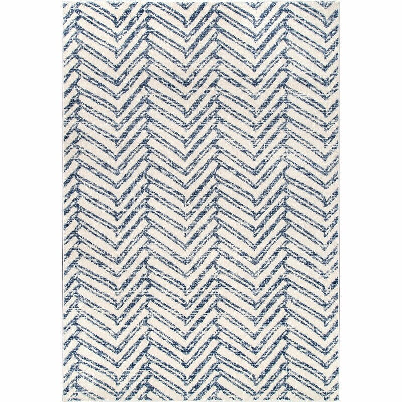 Lorelai Geometric Blue Area Rug