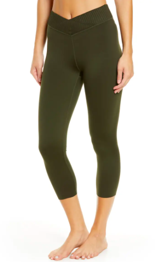 Zella Wrap High Waist Crop Leggings