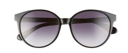 Kate Spade Eliza 55mm Round Sunglasses