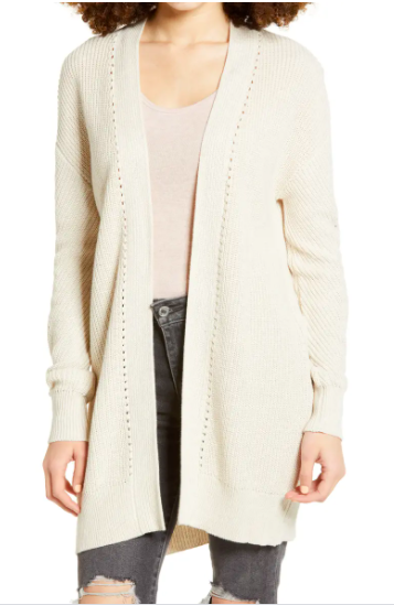 BP. Open Stitch Cardigan
