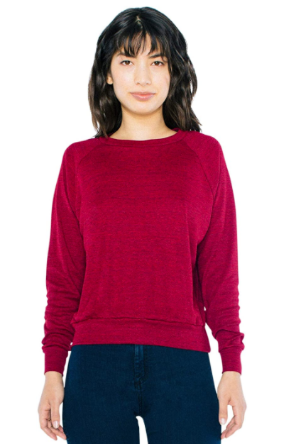 Women's Tri-Blend Lightweight Long Sleeve Pullover