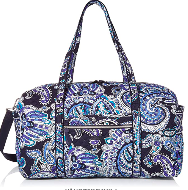 Vera Bradley Signature Cotton Large Travel Duffel Travel Bag