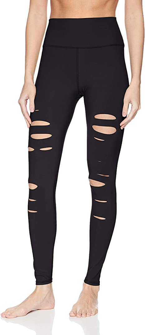 Alo Yoga Women's High Waisted Ripped Warrior Leggings
