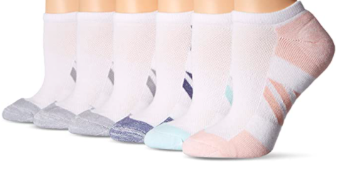 Amazon Essentials 6-Pack Performance Cotton Cushioned Athletic No-Show Socks