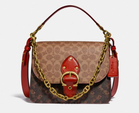 Coach Beat Shoulder Bag In Signature Canvas With Horse And Carriage Print