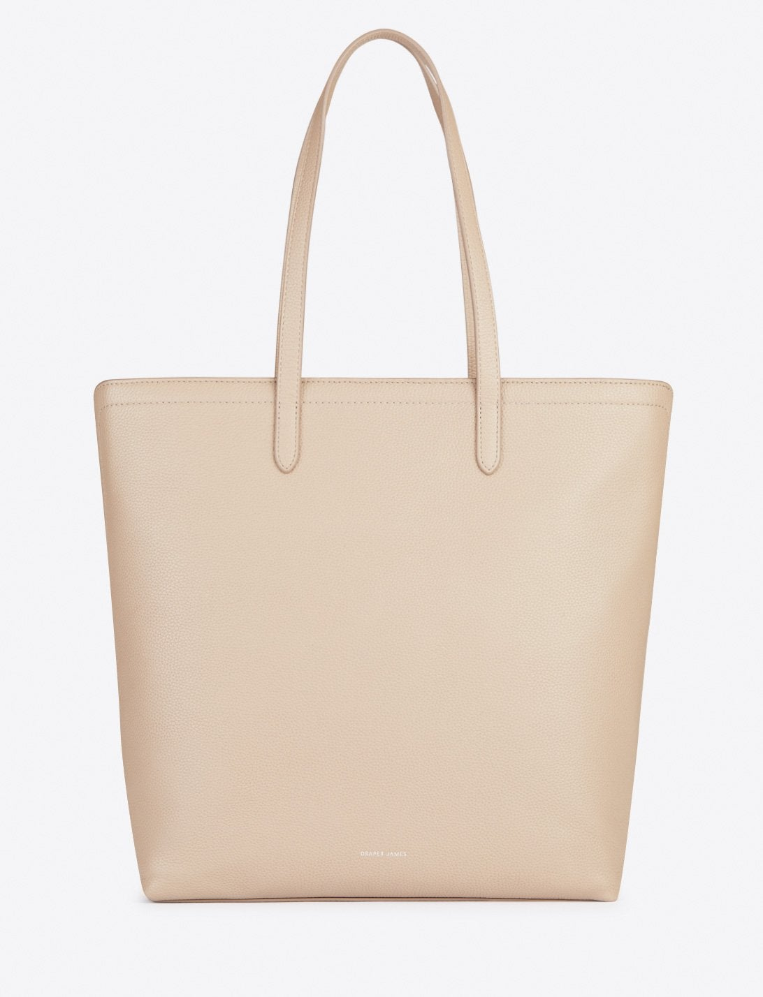 Draper James Leather Zip Top North South Tote