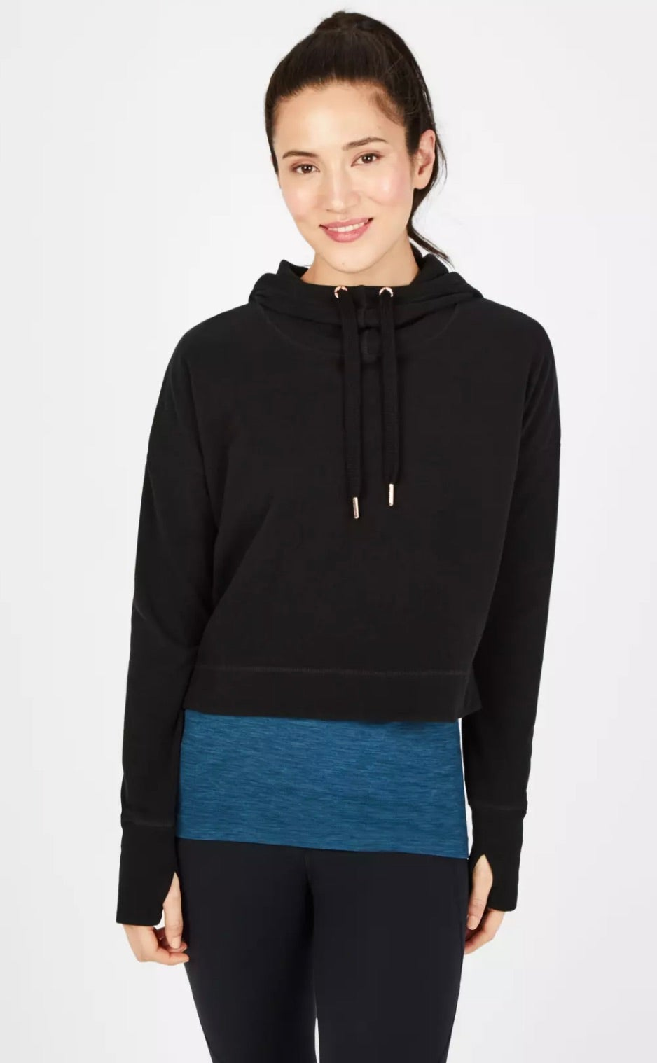 Escape Luxe Fleece Cropped Hoodie