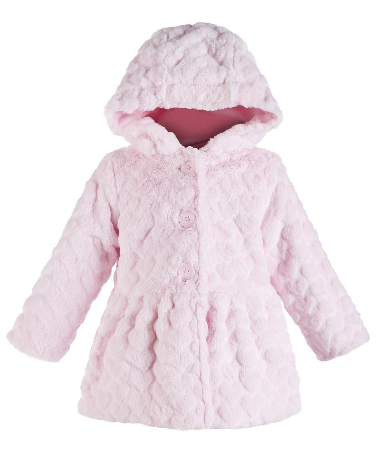 First Impressions Baby Girls Heart Plush Coat
