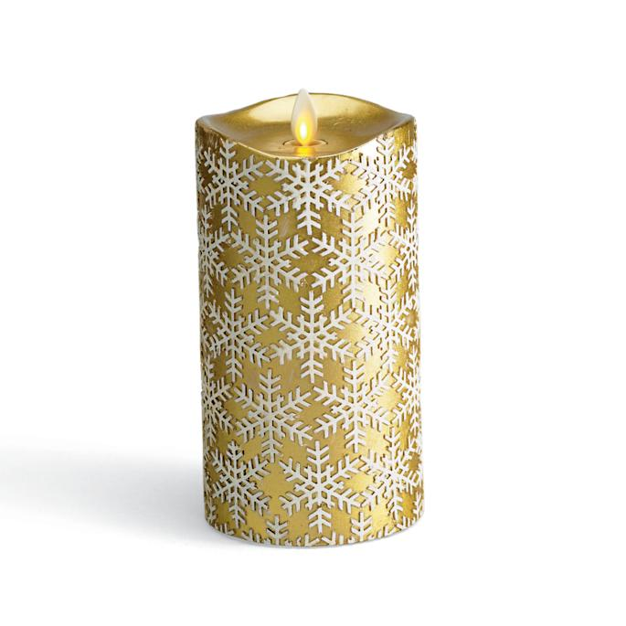 Frongate Snowflake Embossed Dream Candle Pillar