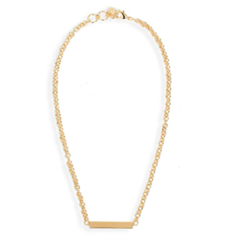 Gorjana Adjustable Lou Tag Necklace, 18k Gold Plated