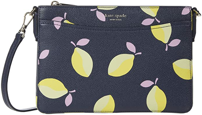 Kate Spade New York Margaux Lemons Medium Convertible Crossbody Blue Multi One Size