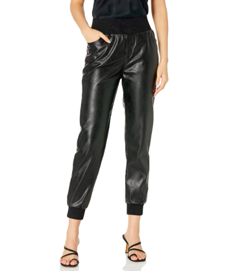 Kendall + Kylie Vegan Leather Jogger