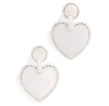 Lele Sadoughi Heart Earrings