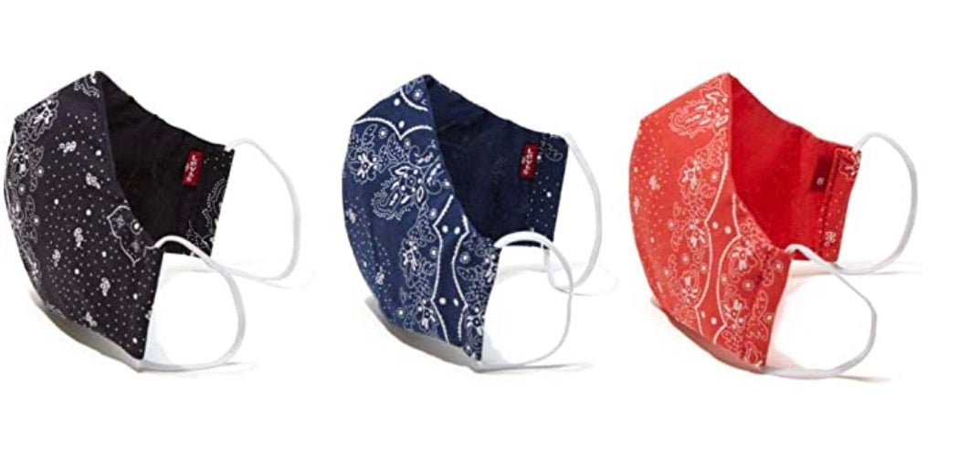 Levi's Re-Usable Bandana Print Reversible Face Mask (Pack of 3)