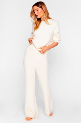 Nasty Gal It Takes Two Baby Fluffy Knit Lounge Set